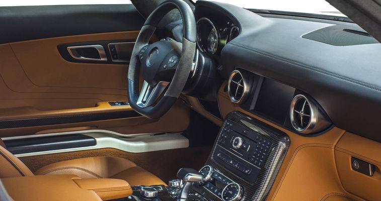 Car interior with dashboard