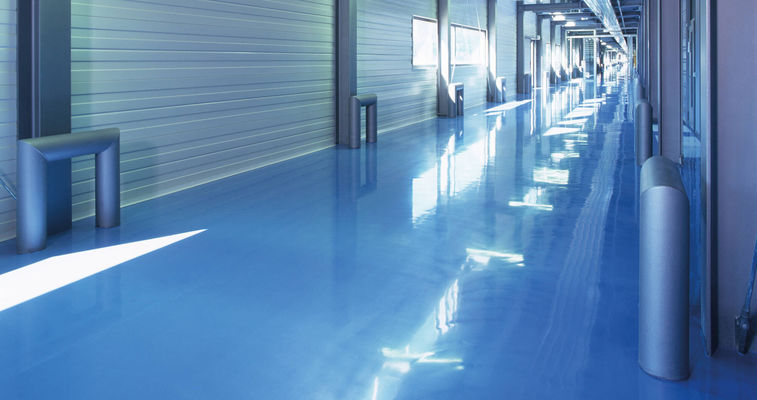 Glossy flooring in a hall