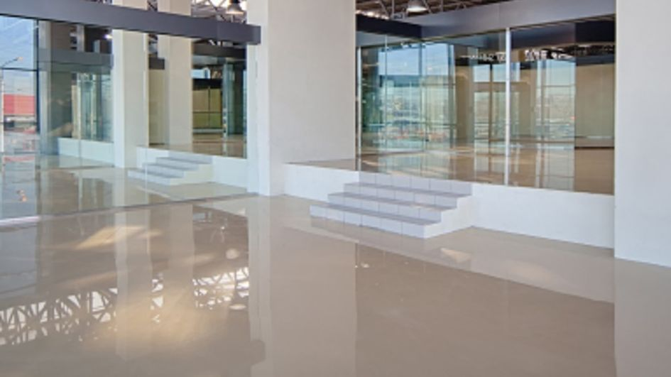 Glossy one-day flooring system