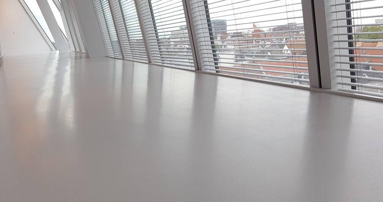 Glossy grey floor
