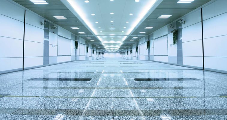 Glossy flooring in a building