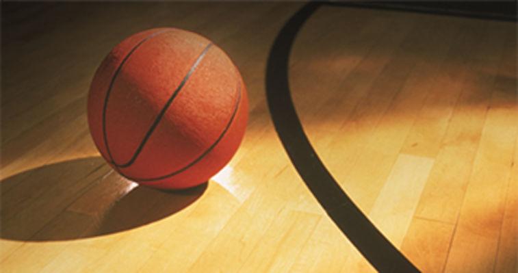 basketball in a sports hall hybridur