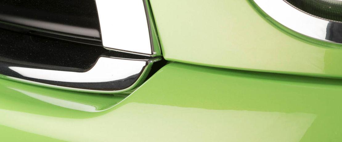 Metal surface of a car