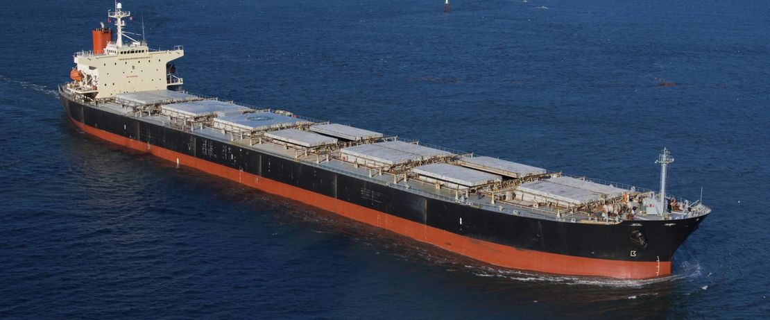 big freighter ship on the sea
