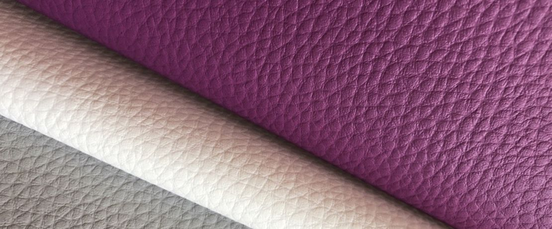 leather in three different colours